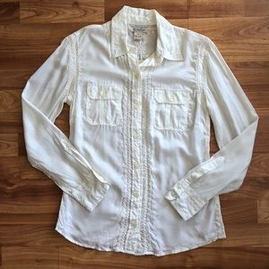 NWT Lucky Brand Embroidered Western Button Up Top